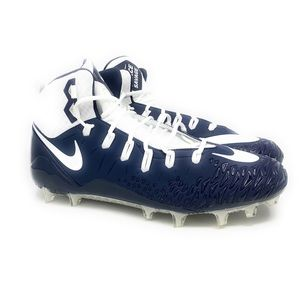 NIKE Force Savage Pro White Blue  Football Cleats